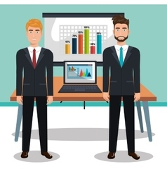 businesspeople in training process isolated icon vector image