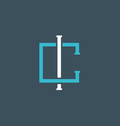 C letter logo initial simple minimalist vector