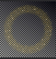 circle of gold glitter sparkle star dust r vector image