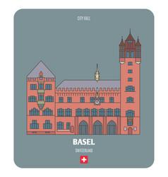 City hall in basel switzerland vector