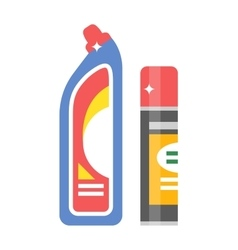 cleaning product detergent plastic bottles vector image