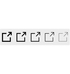 collection of external link icons web design vector image