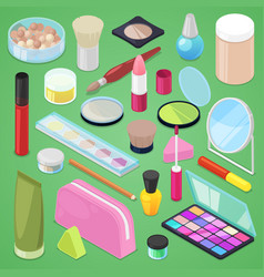 cosmetic beauty make up cosmetology for vector image