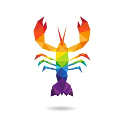 Crayfish abstract isolated vector