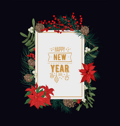 decorative new year greeting card or postcard vector image