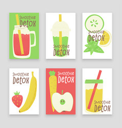 Detox smoothie vector