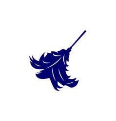 Dust feather logo design template vector