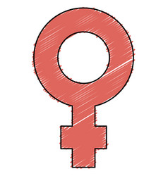 Femenine symbol isolated icon vector