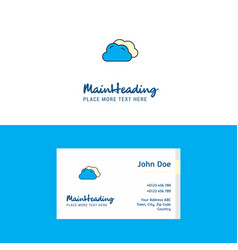 flat clouds logo and visiting card template vector image