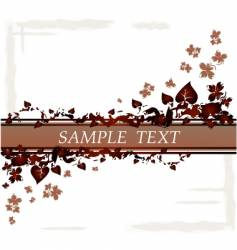 floral leaves border vector image