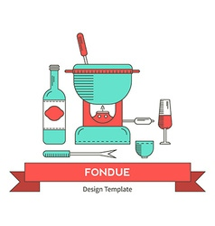 Fondue party vector