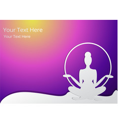 girl silhouette meditate vector image