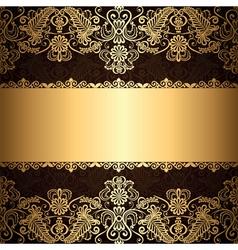 gold patter border vector image