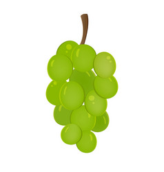 Grapes fruit icon isolated fruits and vegetables vector