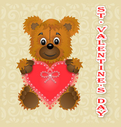 Greeting card happy valentines day keeps the vector