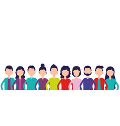 group team people vector image
