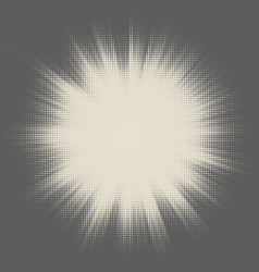 halftone star- burst design vector image