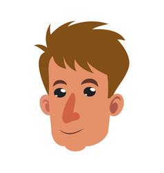 Head man male person smile vector