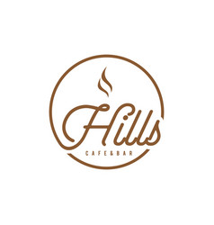 hills typography vector image