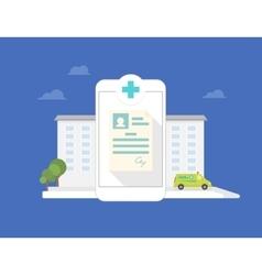 Hospital mobile application vector
