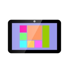 Icon tablet computer vector
