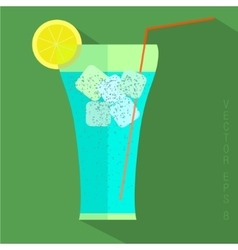 Juice glass icon vector image