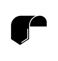 label tag 1 icon black sign vector image