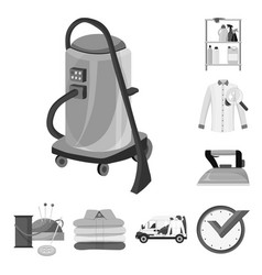 Laundry and clean icon vector