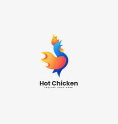 logo chicken gradient colorful style vector image