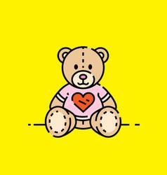 love bear icon vector image