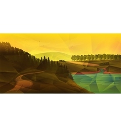 Low poly NatureLandscape vector image