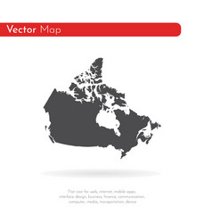 map canada isolated black on vector image