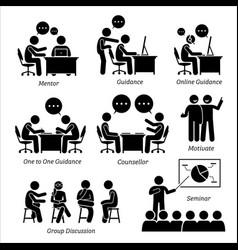 Mentor guidance coach for business executive vector