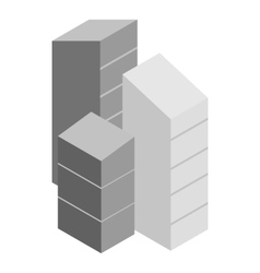 Modern buildings icon isometric 3d style vector image