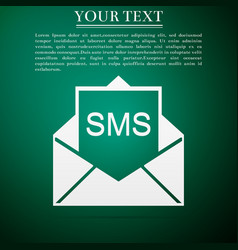 New email incoming message envelope with sms vector