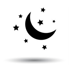 night icon vector image