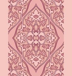 oriental pink ornament vector image