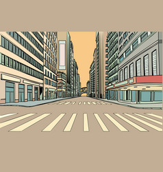 Pedestrian crossing in the big city vector