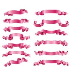 pink ribbons vector image