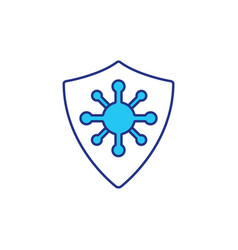 protection from dangerous viruses rgb color icon vector image