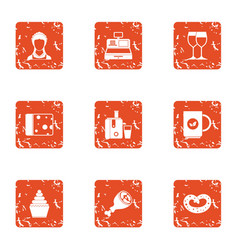 Refill icons set grunge style vector