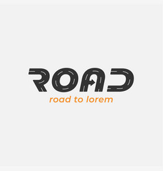 road logo with arrow on white background vector image