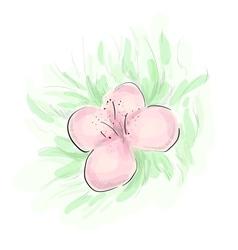 Rosy flower sketch vector