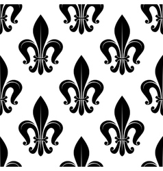 Royal fleur-de-lis floral seamless pattern vector