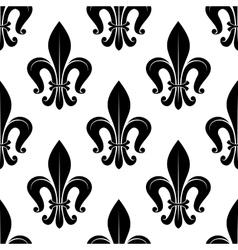 Royal fleur-de-lis floral seamless pattern vector