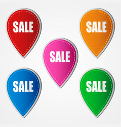 sale icons in five different colors vector image