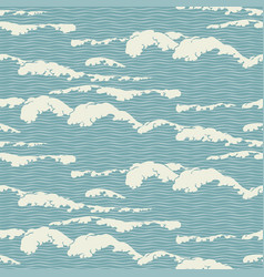 seamless pattern with abstract wavy pattern vector image