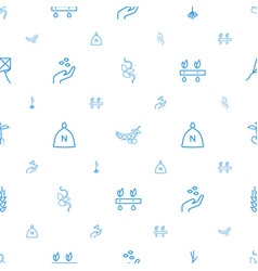 Seed icons pattern seamless white background vector