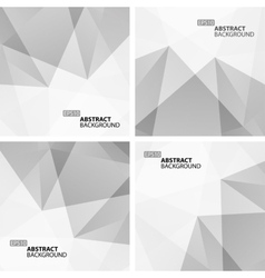 set light gray abstract geometric backgrounds vector image