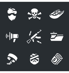 Set of Sea pirates vector image